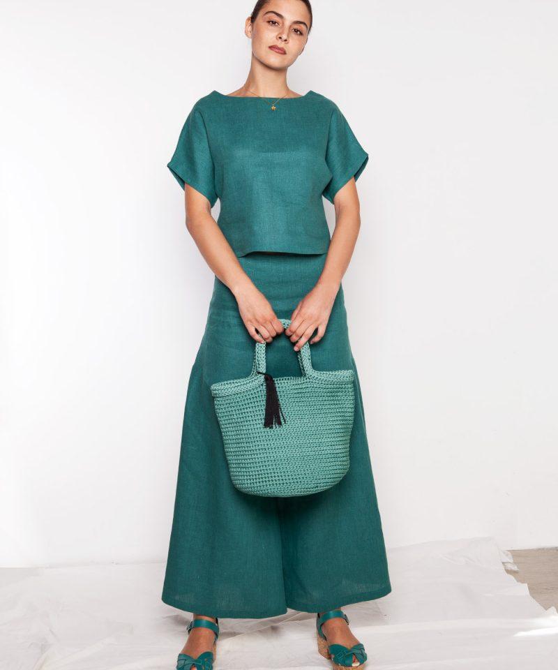 conjunto verde lino